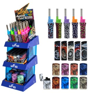 Customized Assorted Lighters - 3 Tier Display