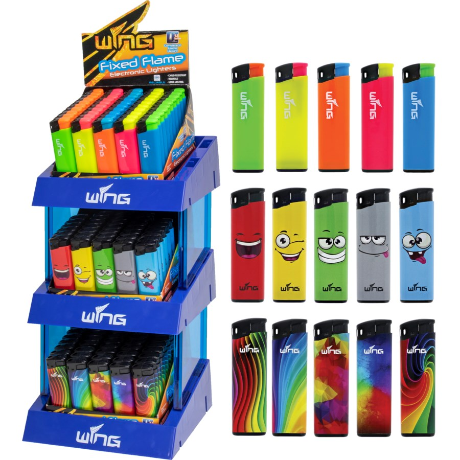 Customized Fixed Flame Lighters - 3 Tier Display