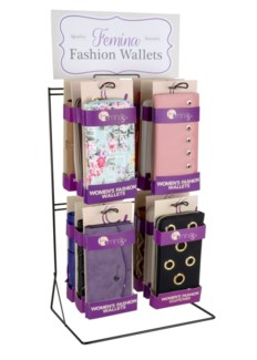 Women's Wallets Wire Counter Display - 24pcs