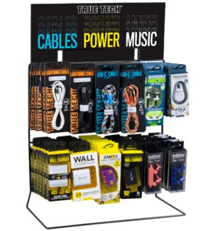 True Tech City Mix - Wire Counter/Hanging Display - 71pcs