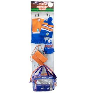 Blue/Orange/White Stadium Accessories Panel - 60pcs