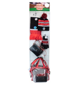 Red/White/Black Stadium Accessories Panel - 60pcs