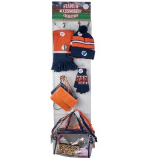 Navy/Orange/White Stadium Accessories Panel - 60pcs