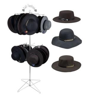Fashion Hats Floor Spinner - 36pcs