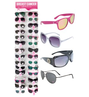 Breast Cancer Awareness Sunglasses Side Panel - 36pcs