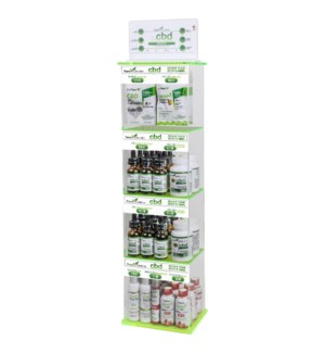 CBD Display with Assorted Best Sellers