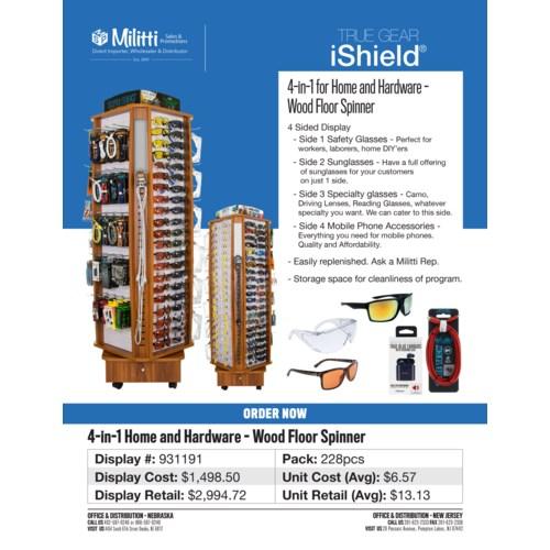 Open Road/Camo Sunglasses/Tech - Wood Floor Spinner - 220pcs