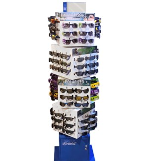 Outdoorsman Sunglasses Program - Cube Floor Display - 96pcs