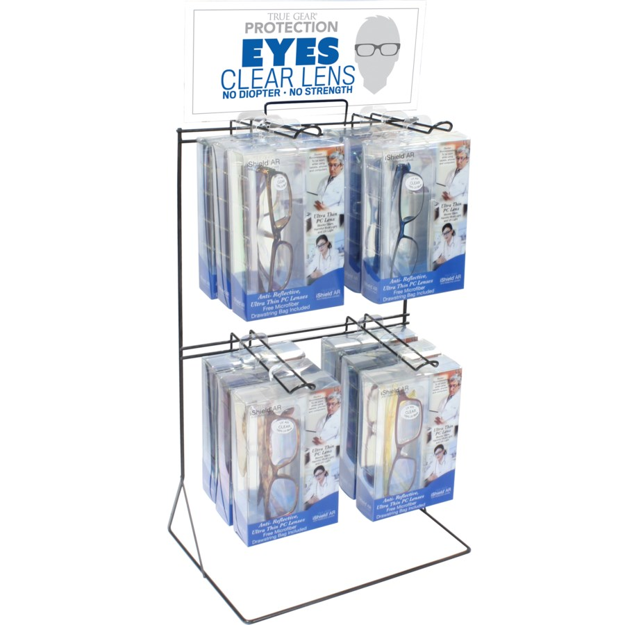 Clear Lens Protection Counter Display - 24pcs