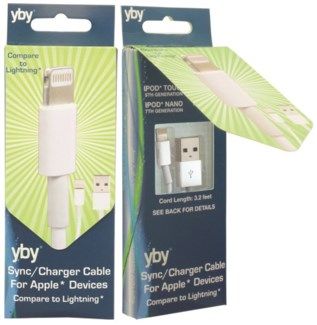 Sync/Charger Cable for Apple* Devices