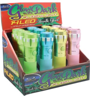 Glow in the Dark Flashlight 12 pc Counter Display