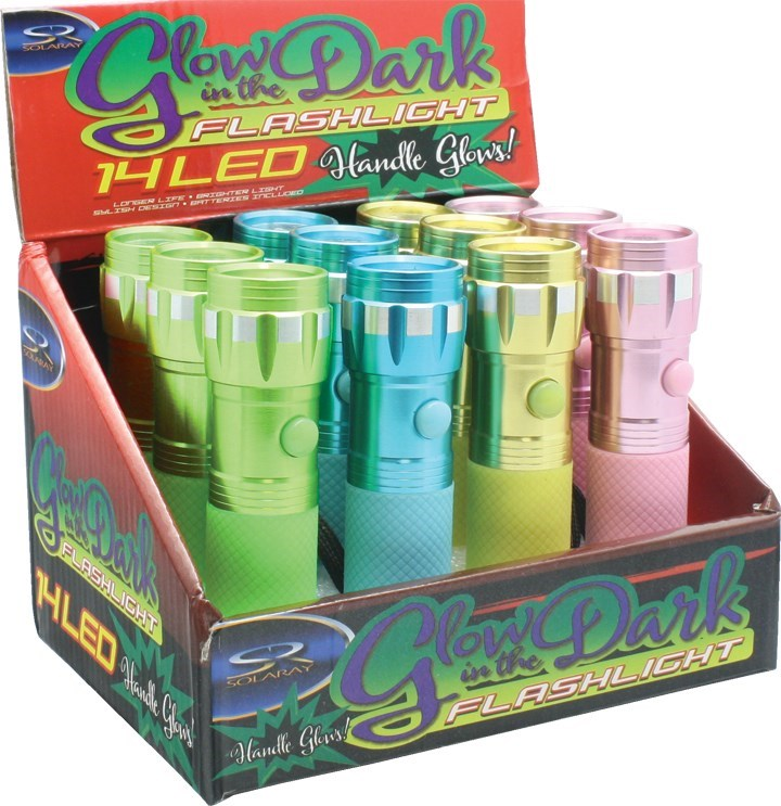 Glow in the Dark Flashlight 12 pc Counter Display